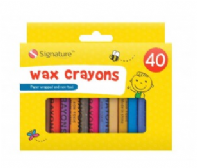 Pack of 40 wax crayons (Code 3607)